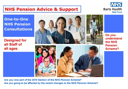 Barts Health NHS Pension Advice Support Free One to One NHS Pension Consultations v001 Page 1